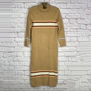 Free People Striped Turtleneck Sweater Dress